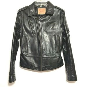 Levi's Genuine Leather Motorcycle Bomber Jacket L